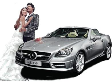 新款奔驰SLK婚车